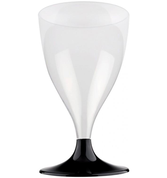 Copa Plastico Vino Pie Negro 200ml 2P (400 Uds)