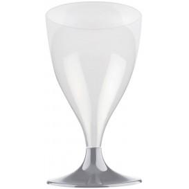 Copa de Plastico Vino con Pie Gris 200ml (200 Uds)