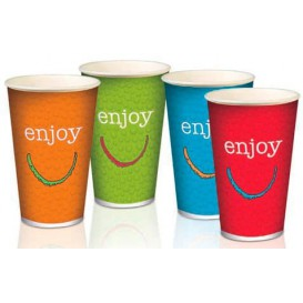 "Vaso Cartón 12 Oz/360 ml ""Enjoy"" Ø8,0cm (2000 Uds)"