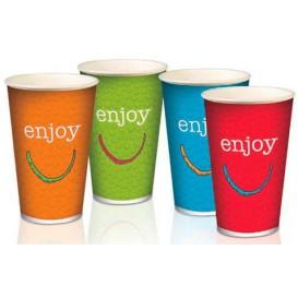 """Vaso de Cartón para Bebidas Frías 12 Oz/360 ml Modelo """"Enjoy"""" (1.000 Uds)"""