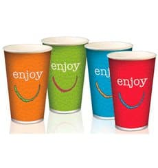 "Vaso Cartón 22 Oz/ 680 ml ""Enjoy"" Ø9,0cm (1000 Uds)"