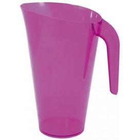 Jarra Plástico Berenjena Reutilizable 1.500 ml (20 Unidades)
