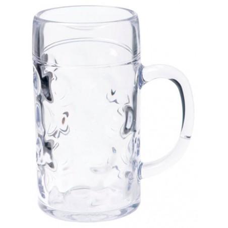 Jarra de Plastico de Cerveza Transp. Ø85mm 568ml (1 Ud)