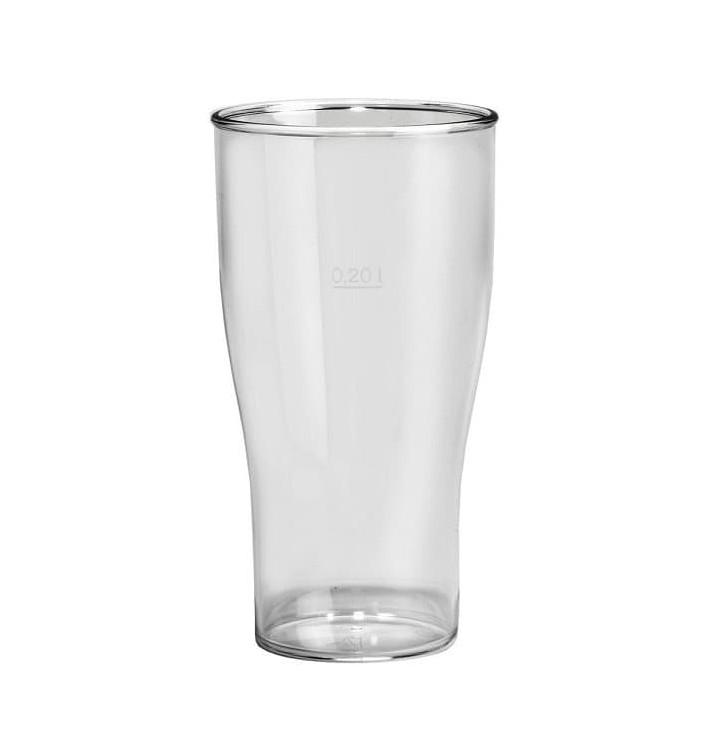 Vaso Reutilizable SAN Cerveza Transparente 350ml (5 Uds)