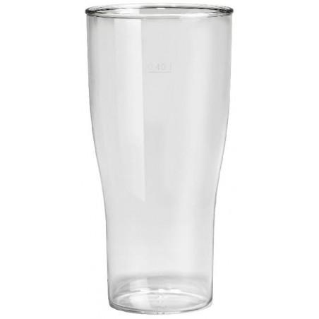 Vaso Reutilizable SAN Cerveza Transparente 400ml (5 Uds)