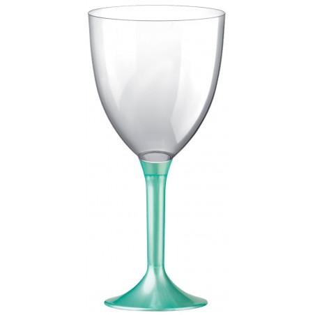 Copa Plastico Vino Pie Tiffany Perlado 300ml 2P (200 Uds)