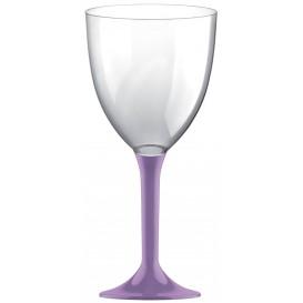 Copa Plastico Vino Pie Lila 300ml 2P (20 Uds)
