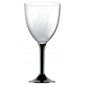 Copa de Plastico Vino con Pie Negro 300ml (200 Uds)