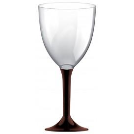 Copa Plastico Vino Pie Marron 300ml 2P (200 Uds)