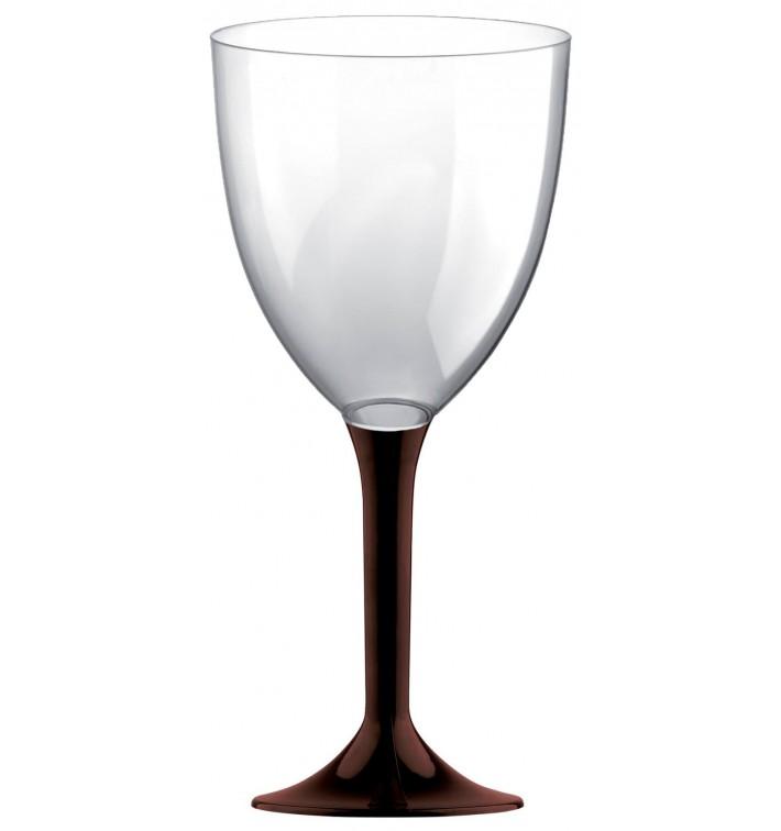 Copa de Plastico Vino con Pie Marron 300ml (200 Uds)