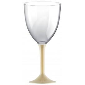 Copa de Plastico Vino con Pie Crema 300ml (20 Uds)