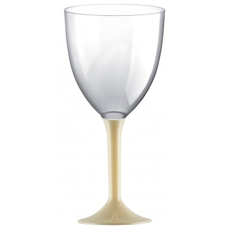 Copa Plastico Vino Pie Crema 300ml 2P (20 Uds)