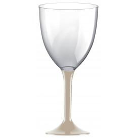 Copa de Plastico Vino con Pie Beige 300ml (200 Uds)