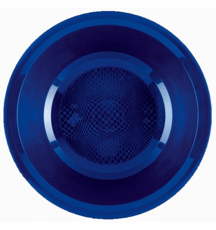 Plato de Plastico Hondo Azul Round PP Ø195mm (50 Uds)