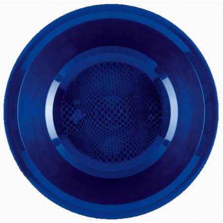 Plato de Plastico Hondo Azul Round PP Ø195mm (300 Uds)