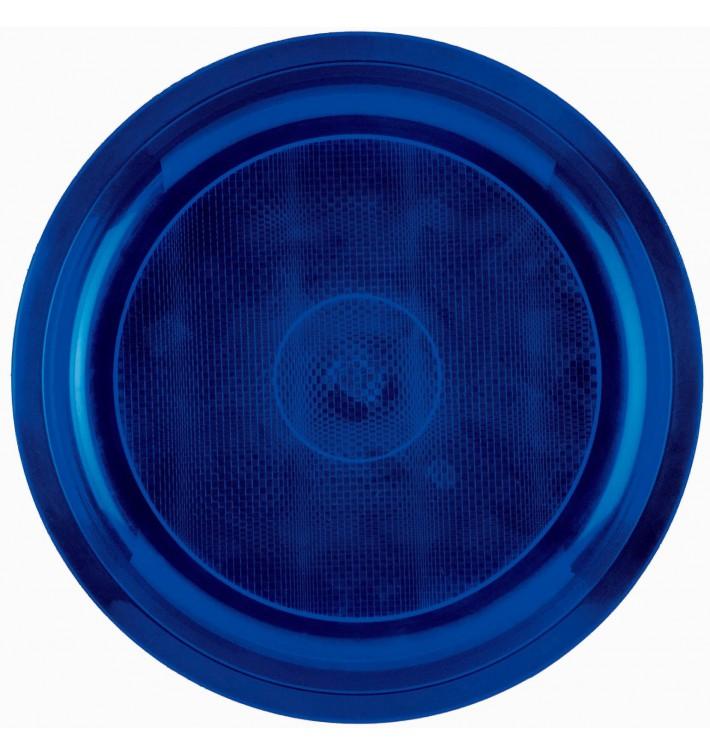 Plato de Plastico Azul Round PP Ø290mm (25 Uds)