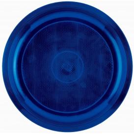 Plato de Plastico Azul Round PP Ø290mm (300 Uds)