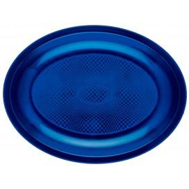 Bandeja Ovalada Azul Round PP 255x190mm (50 Uds)