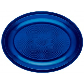 Bandeja Ovalada Azul Round PP 255x190mm (600 Uds)