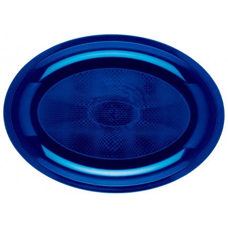 Bandeja Ovalada Azul PP 315x220mm (25 Uds)