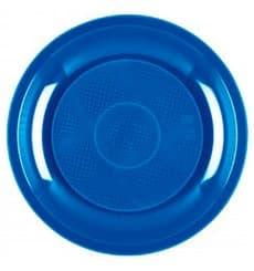 Plato de Plastico Postre Azul Mediterraneo Round PP Ø185mm (50 Uds)