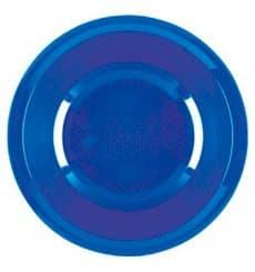Plato de Plastico Hondo Azul Mediterraneo Round PP Ø195mm (600 Uds)