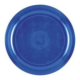 Plato de Plastico Azul Mediterraneo Round PP Ø290mm (300 Uds)