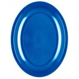 Bandeja Ovalada Azul Mediterraneo Round PP 255mm (600 Uds)