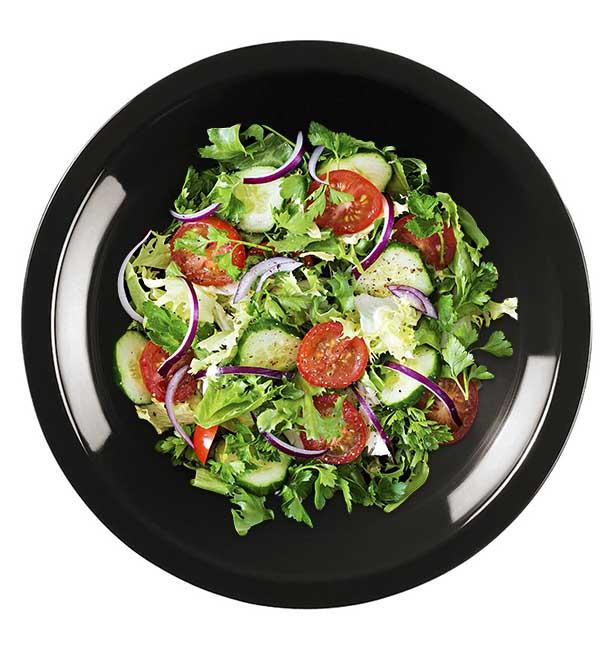 Plato de Plastico Hondo Negro Round PP Ø195mm (300 Uds)