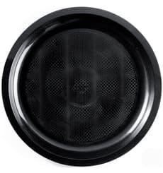 Plato de Plastico Negro Round PP Ø290mm (25 Uds)