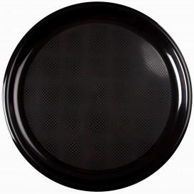 Plato de Plastico para Pizza Negro Round PP Ø350mm (144 Uds)