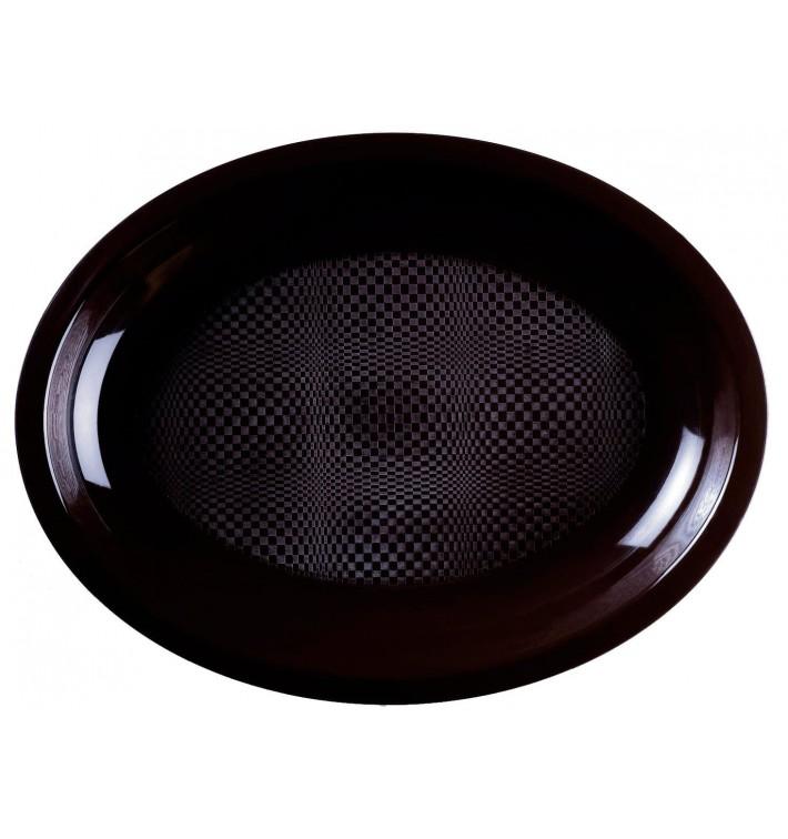 Bandeja Ovalada Negro Round PP 255x190mm (300 Uds)