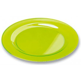 Plato Plastico Redondo Extra Rigido Verde 19cm (10 Uds)