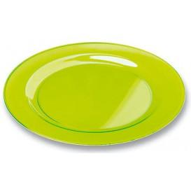 Plato Plastico Redondo Extra Rigido Verde 26cm (90 Uds)