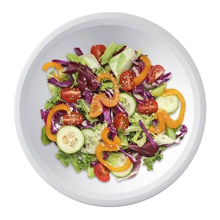 Plato de Plastico Hondo Blanco Ø195mm (50 Uds)