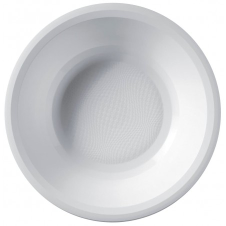 Plato de Plastico Hondo Blanco Round PP Ø195mm (600 Uds)
