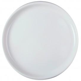 Plato de Plastico para Pizza Blanco Round PP Ø350mm (12 Uds)