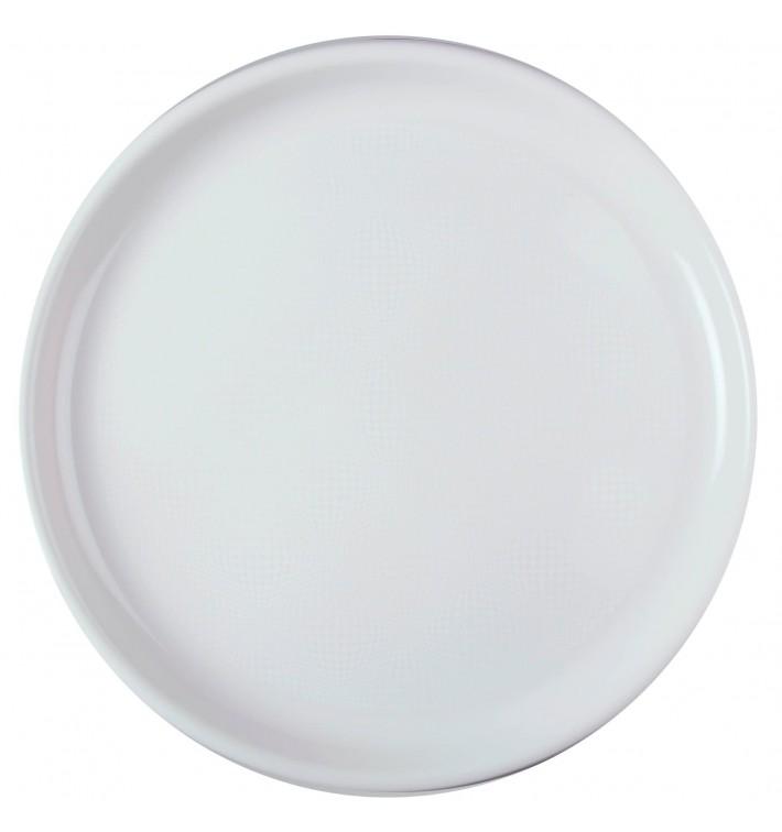 Plato de Plastico para Pizza Blanco Round PP Ø350mm (144 Uds)
