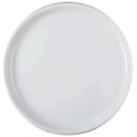 Plato de Plastico para Pizza Blanco Round PP Ø350mm (72 Uds)