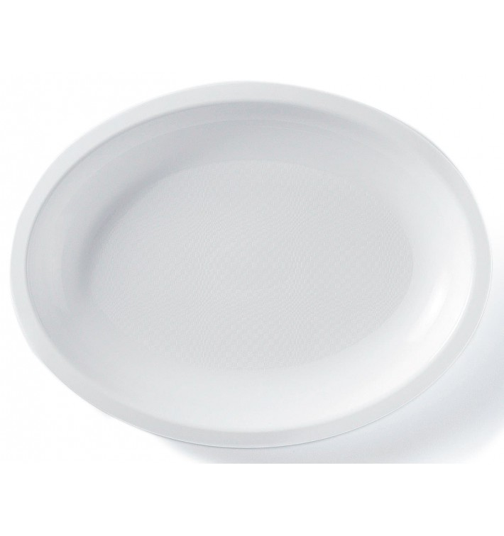 Bandeja Ovalada Blanca Round PP 255x190mm (300 Uds)