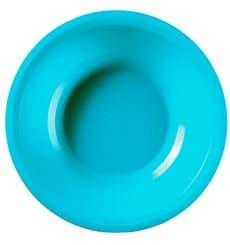 Plato de Plastico Hondo Turquesa Round PP Ø195mm (50 Uds)