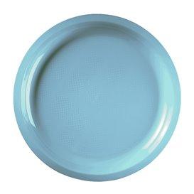 Plato de Plastico Turquesa Round PP Ø290mm (150 Uds)