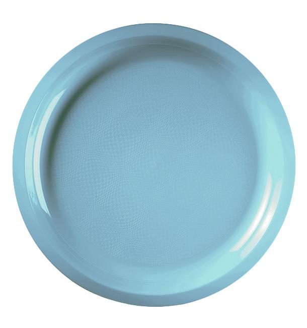 Plato de Plastico Turquesa Round PP Ø290mm (300 Uds)