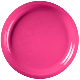 Plato de Plastico Fucsia Round PP Ø290mm (25 Uds)
