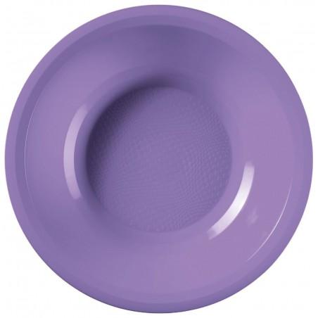 Plato de Plastico Hondo Lila Round PP Ø195mm (300 Uds)