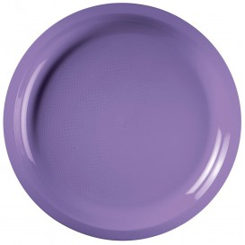 Plato de Plastico Lila Round PP Ø290mm (25 Uds)