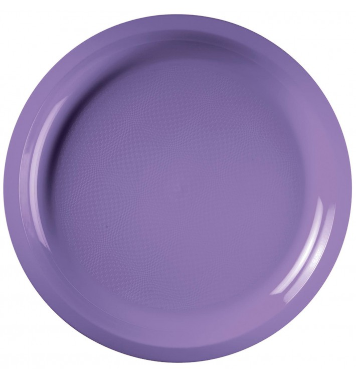 Plato de Plastico Lila Round PP Ø290mm (300 Uds)