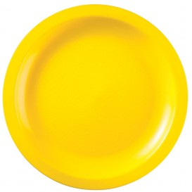 Plato de Plastico Amarillo Round PP Ø290mm (150 Uds)