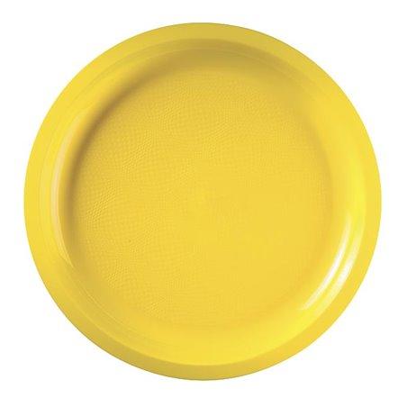 Plato de Plastico Amarillo Round PP Ø290mm (300 Uds)