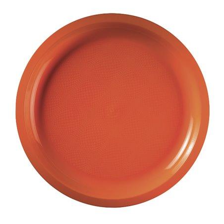 Plato de Plastico Naranja Round PP Ø290mm (25 Uds)